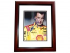 Sam Hornish Jr Signed - Autographed 8x10 inch Photo MAHOGANY CUSTOM FRAME - Guaranteed to pass PSA or JSA - Indy 500 Champion