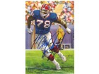 Bruce Smith Autographed Buffalo Bills Goal Line Art Card blue