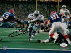 Emmitt Smith Autographed Dallas Cowboys 8x10 Photo (vs Bills) JSA