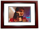 Shirley Manson Signed - Autographed Concert 8x10 inch Photo MAHOGANY CUSTOM FRAME - Guaranteed to pass PSA or JSA - GARBAGE