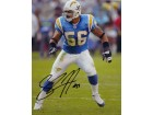 Shawne Merriman Signed - Autographed San Diego Chargers 8x10 inch Photo - Guaranteed to pass PSA or JSA - LIGHTS OUT