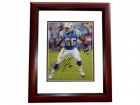 Shawne Merriman Signed - Autographed San Diego Chargers 8x10 inch Photo MAHOGANY CUSTOM FRAME - Guaranteed to pass PSA or JSA - LIGHTS OUT
