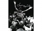 Leon Spinks Signed Boxing Win Over Muhammad Ali Celebration B&W 8x10 Photo