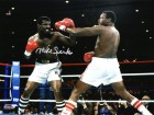 Michael (Mike) Spinks Signed Boxing vs Larry Holmes Action 8x10 Photo