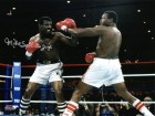 Michael (Mike) Spinks Signed Boxing vs Larry Holmes Action 8x10 Photo w/Jinx