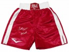 Leon Spinks Signed Everlast Red Boxing Trunks w/76 Gold