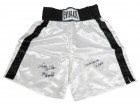 Leon Spinks & Michael (Mike) Spinks Dual Signed Everlast White Boxing Trunks w/76 Gold