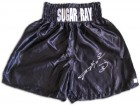 Sugar Ray Leonard Signed Custom Boxing Trunks