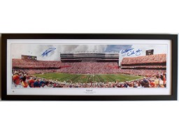 "Steve Spurrier AND Urban Meyer Dual Signed - Autographed Florida Gators ""Florida Field"" Panoramic Photo  - CUSTOM FRAME - Guaranteed to pass PSA/DNA or JSA"
