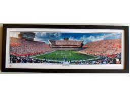 Steve Spurrier AND Urban Meyer Dual Signed - Autographed Florida Gators THE SWAMP 13.5x39 Panoramic Photo with GO GATORS inscription - CUSTOM FRAME - Guaranteed to pass PSA/DNA or JSA