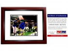 Steve Spurrier Signed - Autographed Florida Gators UF 8x10 inch Photo MAHOGANY CUSTOM FRAME - 1996 National Championship Gatorade Dunk - PSA/DNA Certificate of Authenticity (COA)