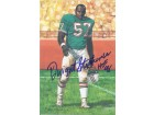 "Dwight Stephenson Autographed Miami Dolphins Goal Line Art Card in Blue w/""HOF 98"""