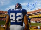 Michael Strahan Autographed New York Giants 16x20 Photo (Solo) w/HOF 14 & JSA