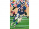 Michael Strahan Autographed New York Giants Goal Line Art Card (Blue name only)