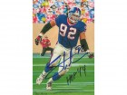 Michael Strahan Autographed New York Giants Goal Line Art Card (Blue w/HOF)