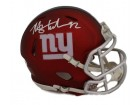 Michael Strahan Autographed New York Giants Blaze Mini Helmet JSA