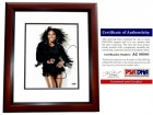 Serena Williams Signed - Autographed Tennis - Model 8x10 inch Photo MAHOGANY CUSTOM FRAME - 4x Gold Medalist - PSA/DNA Certificate of Authenticity (COA)
