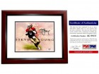 Steve Young Signed - Autographed San Francisco 49ers 8x10 inch Photo MAHOGANY CUSTOM FRAME - PSA/DNA Certificate of Authenticity (COA)