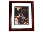Shaquille O'Neal Signed - Autographed Orlando Magic 8x10 inch Photo MAHOGANY CUSTOM FRAME - SHAQ ATTACK - Online Authentics Authenticated - Guaranteed to pass PSA or JSA