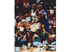 Shaquille O'Neal and Chris Webber Signed - Autographed Orlando Magic 8x10 inch Photo - SHAQ ATTACK - Online Authentics Authenticated - Guaranteed to pass PSA or JSA