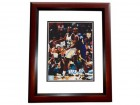 Shaquille O'Neal and Chris Webber Signed - Autographed Orlando Magic 8x10 inch Photo MAHOGANY CUSTOM FRAME - SHAQ ATTACK - Online Authentics Authenticated - Guaranteed to pass PSA or JSA