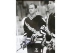 Ray Sheppard (Pittsburgh Penguins) Signed B&W 16x20 Photo