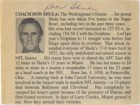 Don Shula Signed 3x4 Magazine Bio Cut Out