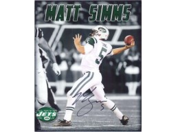 Matt Simms (New York Jets) Signed 8x10 Photo