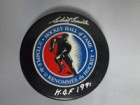 Clint Smith Signed Hockey Hall of Fame Hockey Puck