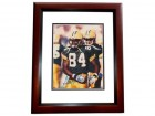 Sterling Sharpe Signed - Autographed Green Bay Packers 8x10 inch Photo MAHOGANY CUSTOM FRAME - Guaranteed to pass PSA or JSA