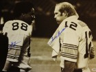 Lynn Swann and Terry Bradshaw Signed - Autographed Pittsburgh Steelers 16x20 inch Photo with PSA/DNA Certificate of Authenticity (COA)