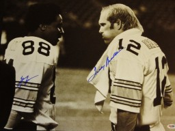 Lynn Swann and Terry Bradshaw Signed - Autographed Pittsburgh Steelers 16x20 inch Photo with PSA/DNA Authenticity