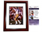 Troy Aikman Signed - Autographed UCLA Bruins 8x10 inch Photo MAHOGANY CUSTOM FRAME - JSA Certificate of Authenticity