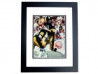 Terry Bradshaw Autographed Pittsburgh Steelers 11x14 Photo BLACK CUSTOM FRAME