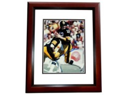 Terry Bradshaw Signed - Autographed Pittsburgh Steelers 11x14 inch Photo MAHOGANY CUSTOM FRAME - Guaranteed to pass PSA or JSA