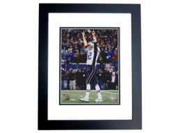 Tom Brady Unsigned New England Patriots 8x10 inch Photo BLACK CUSTOM FRAME