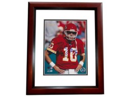 Trent Green Signed - Autographed Kansas City Chiefs 8x10 inch Photo MAHOGANY CUSTOM FRAME - Guaranteed to pass PSA or JSA