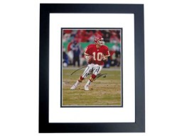 Trent Green Signed - Autographed Kansas City Chiefs 8x10 inch Photo BLACK CUSTOM FRAME - Guaranteed to pass PSA or JSA