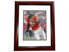 Tommie Harris Signed - Autographed Chicago Bears 8x10 inch Photo MAHOGANY CUSTOM FRAME - Guaranteed to pass PSA or JSA