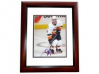 Trent Hunter Signed - Autographed New York Islanders 8x10 Photo MAHOGANY CUSTOM FRAME