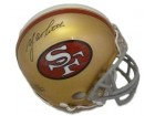 YA Tittle Autographed San Francisco 49ers Mini Helmet (name only)