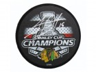 Jonathan Toews Signed Chicago Blackhawks 2015 Stanley Cup Champs Logo Hockey Puck