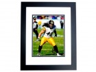 Troy Polamalu Signed - Autographed Pittsburgh Steelers 8x10 inch Photo BLACK CUSTOM FRAME - Guaranteed to pass PSA or JSA