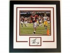 Trent Richardson Autographed Alabama Crimson Tide 3x5 card CUSTOM FRAME with National Champions Photo