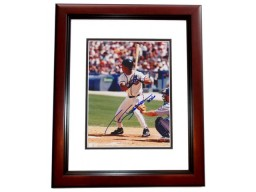 Tony Tarasco Signed - Autographed Atlanta Braves 8x10 inch Photo MAHOGANY CUSTOM FRAME - Guaranteed to pass PSA or JSA