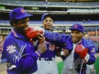 Mike Tyson, Doc Gooden & Darryl Strawberry Autographed New York Mets 16x20 Photo (PF) JSA