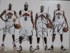 Team USA Signed 8x10 Photo By Kobe Bryant, Lebron James, Deron Williams and Kevin Durant. (Blurry Image)