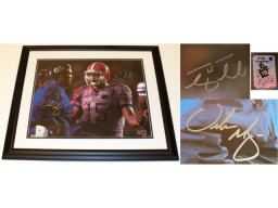 Tim Tebow and Urban Meyer DUAL Signed - Autographed Florida Gators 16x20 inch Photo vs FSU - Custom FRAME - Guaranteed to pass PSA or JSA