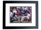 Tim Tebow Unsigned Florida Gators Throwback 8x10 inch Photo BLACK CUSTOM FRAME