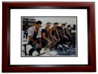 The Wanted Group Signed - Autographed Pop Band 11x14 inch Photo by Max George, Jay McGuiness, Siva Kaneswaran, Tom Parker, and Nathan Sykes -  MAHOGANY CUSTOM FRAME - Guaranteed to pass PSA or JSA